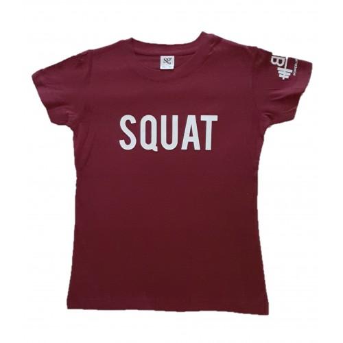 Burgundy Squat Tshirt